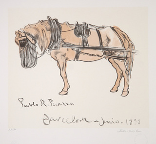 Cheval Attele by Picasso Estate Collection