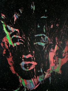 """Andy Warhol - """"Marilyn Monroe"""" (Rainbow Marilyn Reversal w/ Diamond Dust) by Andy Warhol"""