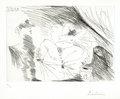 Jeune Femme au lit, Celestine et Gentilhomme by Pablo Picasso