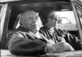Picasso and Jacqueline in a car at Cannes in 1970 by Pablo Picasso