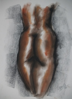 Back nude woman by Enrique Terré Tequila