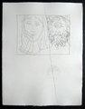 Tetes d'homme barbu et de femme voilee by Pablo Picasso