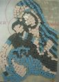 Madonna and Child - Mosaic by Mania Row