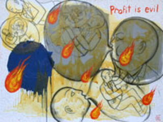 Profit is Evil by Vasan Sitthiket