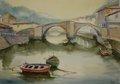 """Bridge in Ondarroa by Enrique López Suárez """"Elosu"""""""