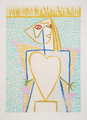 Femme au Buste en Coeur by Picasso Estate Collection
