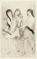 Trois jeunnes filles jouant a l'arc by Marie Laurencin