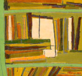 The Green Bookshelf by Kritsana Chaikitwattana