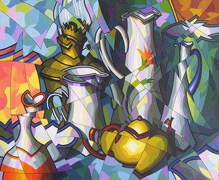 Composicion con jarras modernistas by José Sanz Sala