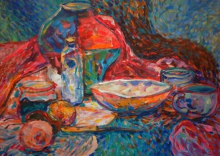 Still life with a plate by Inga Erina