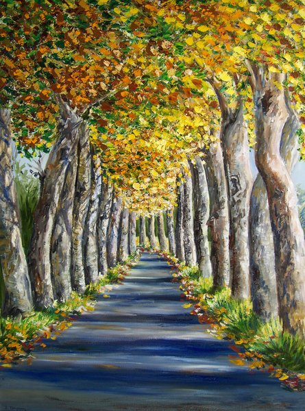 Avenue Of Plane Trees Original Art By Isabelle Dupuy