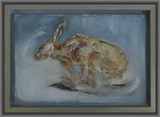 Hare in Flight by Mania Row