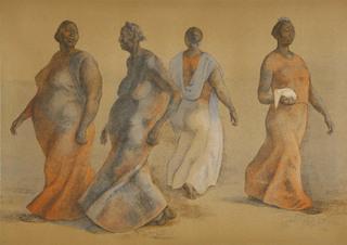Mujeres Caminando I by Francisco Zuñiga