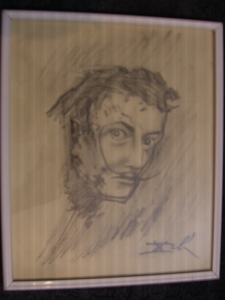 Salvador Dali Self Portrait Original Art by Salvador Dalí ...
