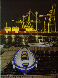 industrial port (night) by PACHI