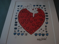 Amor with 55 Hearts by Andy Warhol