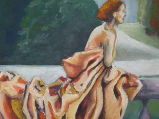 Woman waiting. by Raquel Sara Sarangello
