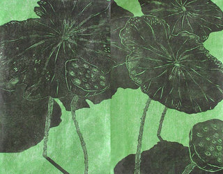 Three Lotuses,  9/10 by Ralph Kiggell