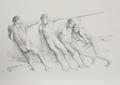 Hombres con Barca I by Francisco Zuñiga