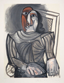 Femme Assise à la Robe Grise by Picasso Estate Collection