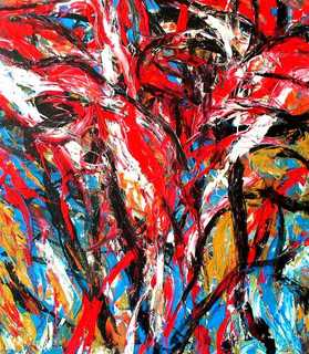 Abstract Painting OF-A42 by Oleg Frolov