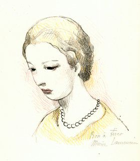 Jeunne Fille Pensive by Marie Laurencin