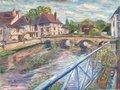 Bridge in Essoyes by Moti Lorber