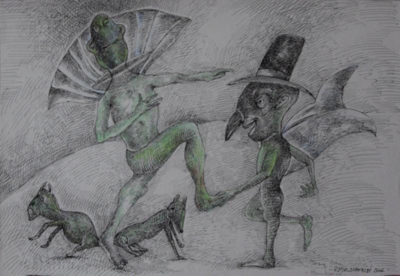 Green character by Ricardo Hirschfeldt