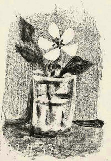 Flowers in a glass , No 6 by Pablo Picasso