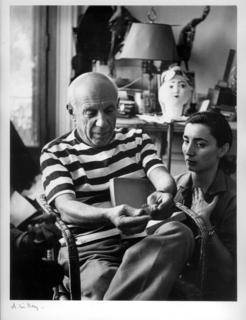 Pablo Picasso et Jacqueline a Cannes by Andre Villers