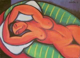 Red nude by Guillermo Martí Ceballos