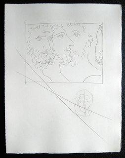 Quatre tetes d'hommes by Pablo Picasso