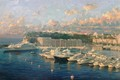 View over Monaco Harbour, Looking Towards Lady Maura by Pip Todd Warmoth