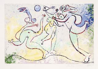 Trois Femmes Jouant au Ballon Sur La Plage by Picasso Estate Collection