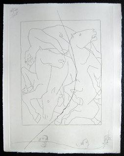 Chute de Phaeton avec le char du soleil by Pablo Picasso