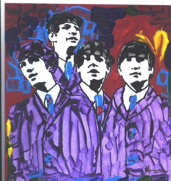 The Beatles original POP ART painting #1 Original Art by Marco Mark ...