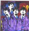 The Beatles original POP ART painting #1 by Marco Mark