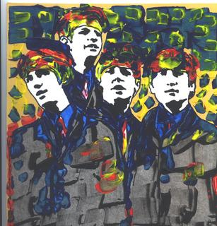 The Beatles original POP ART painting by Marco Mark