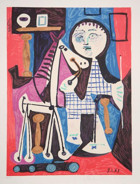 Enfant avec Cheval à Roulettes by Picasso Estate Collection