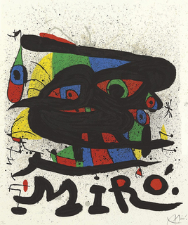 Poster for the Exhibition Miró Sculptures, by Joan Miró