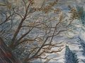 Treetop on a wintry day by Moti Lorber