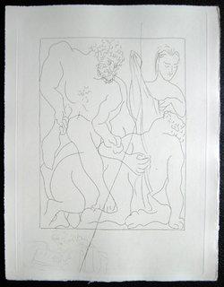 Hercule tue le centaure Nessus by Pablo Picasso