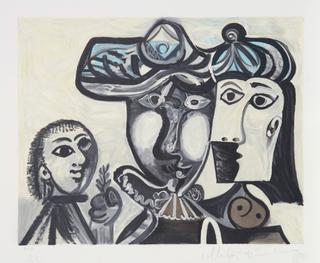 Couple et Enfant au Rameau d' Olivier by Picasso Estate Collection