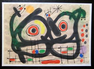 Le Lezard aux plumes D'or - Maeght 516 by Joan Miró