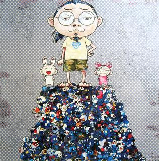 Kaikai Kiki & Me: On the blue mound of the dead by Takashi Murakami
