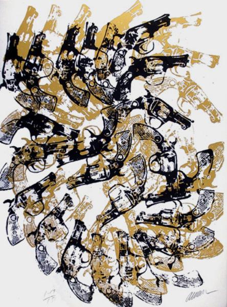 yang and bang original art by arman    picassomio