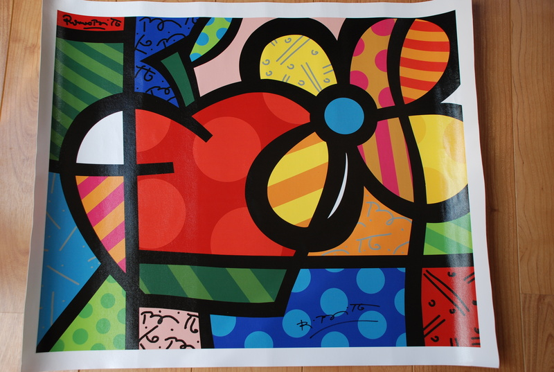 Thank You   The Apple S Flower By Romero BRITTO