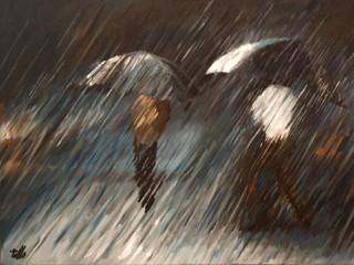 Noche de lluvia by Rafael Lillo