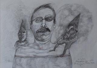 Self Portrait with dwarves by Ricardo Hirschfeldt