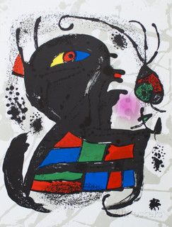 """Litografía original V"" by Joan Miró"